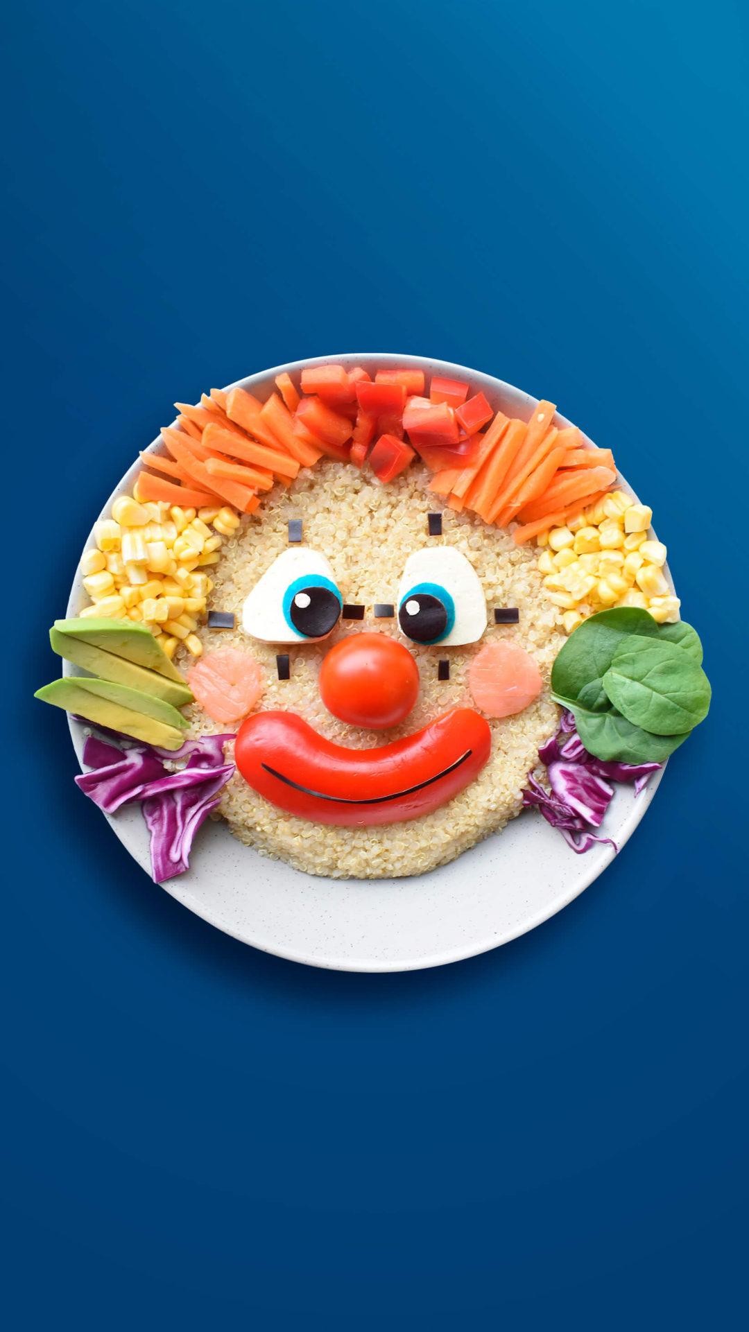 Clown – Gemüse-Snacks mit Quinoa
