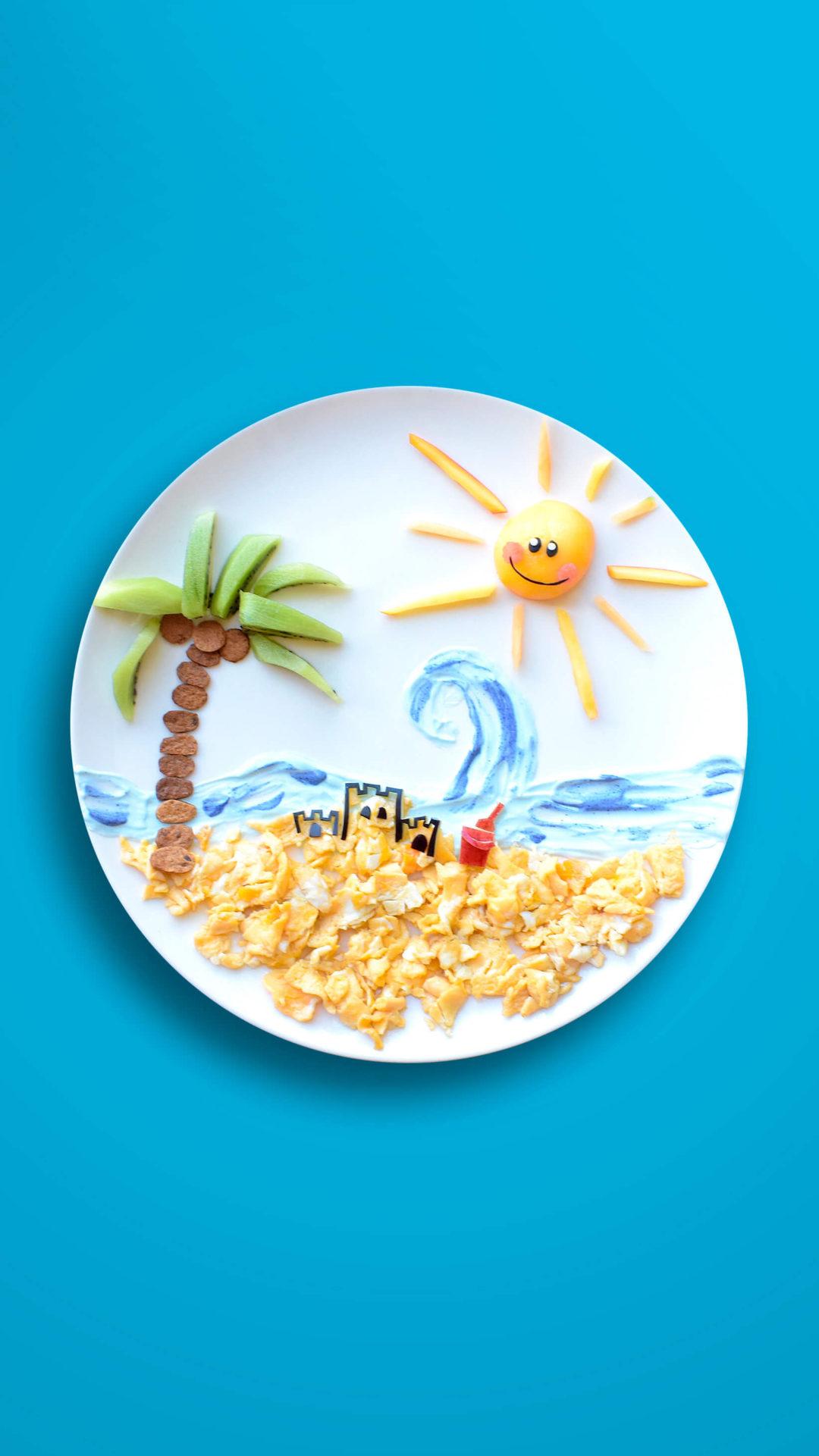 Strand – Rührei mit Früchten