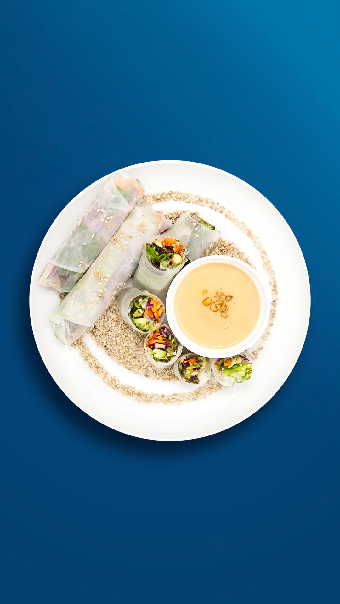 Salat-Röllchen